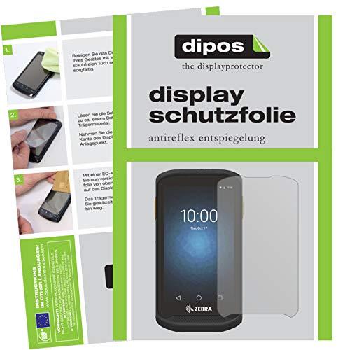 dipos I 6X Schutzfolie matt passend für Zebra TC20 Folie Displayschutzfolie