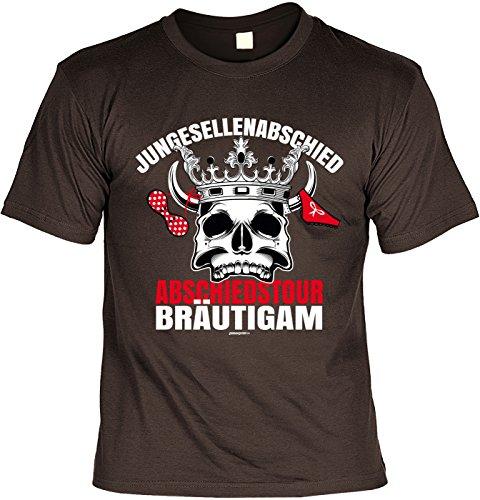 Fun T-Shirt zum Junggesellenabschied: Abschiedstour Bräutigam - JGA - Gruppenshirt - braun Braun