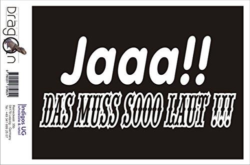 INDIGOS UG Aufkleber Autoaufkleber - JDM Die Cut Auto OEM - Jaaa!! das muss soo laut !!! - 210x150mm Gold - Auto Laptop Tuning Sticker Heckscheibe LKW Boot