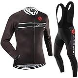 (Cojín 3D)(traje(tirante negro) tamaño:XL) Hombre Ciclismo Ropa Maillots Pantalones pantalón Set Conjunto jerseys