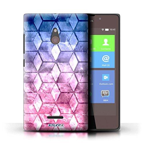 Kobalt® Imprimé Etui / Coque pour Nokia XL / Vert/Bleu conception / Série Cubes colorés Bleu/rose