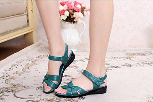 Zormey Plus Size (32-43) Wohnung Sommer Sandalen Für Frauen 2016 Mutter Krankenschwester Aus Echtem Leder Schuhe Schuhe Flache Mutterschaft Frauen Schuhe Sandale 4