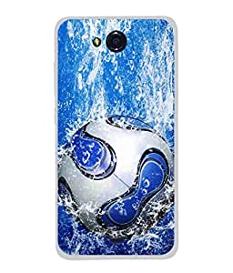 PrintVisa Designer Back Case Cover for Micromax Canvas Play Q355 (Play Football In Water Target Gole Acchive Bubble )