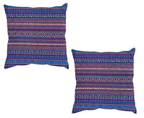 IndiStar Multicolor Jacquard Cotton Cushion Covers 18