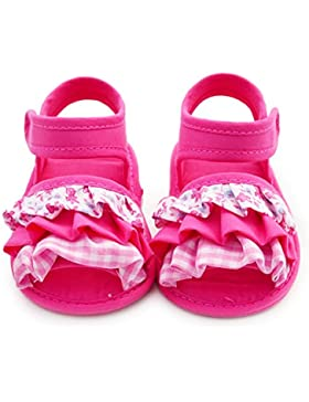 Hongfei Zapatos de niña Princesa Plisada Sandalia de verano con suela blanda