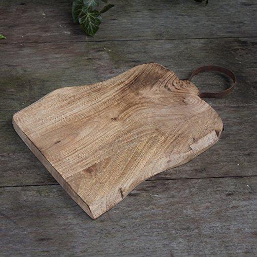 Antikas - Rustikales Schneidebrett aus Holz, Holzbrettchen, Küchenbrett aus Massivholz