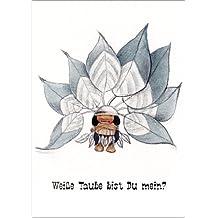 Im 5er Set: romantischer Indianer Liebeskarte: Weiße Taube bist Du mein? Auch als Valentinskarte