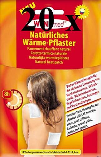 20 WUNDmed natürliches Wärmepflaster Wärme-Pflaster Wärmetherapie Schmerzpflaster Pflaster 8h