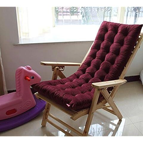 Spessore cristallo Velvet Lounge Sedia Cuscino Divano Nap cotone imbottito per sedia pieghevole sedia a dondolo 120*48*7 Red