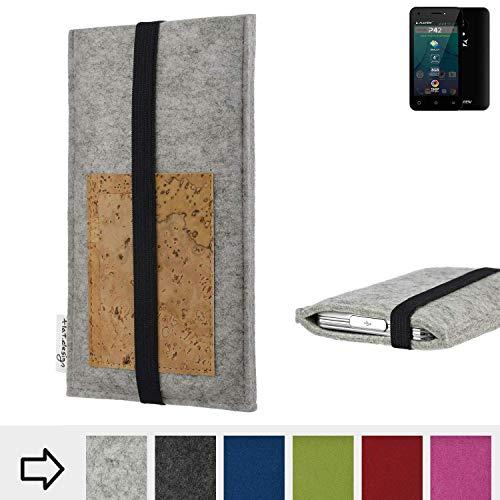 flat.design Handy Hülle Sintra für Allview P42 maßgefertigte Handytasche Filz Tasche Schutz Case Kartenfach Kork