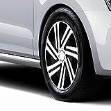 Autoteppich Stylers 15 Zoll Radkappen CYRKON Schwarz-Weiss (Farbe und Größe Wählbar)