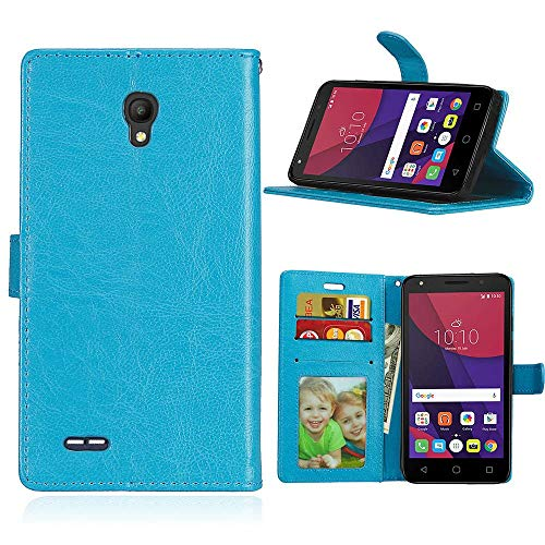 JEEXIA Funda para Alcatel OneTouch Go Play, Moda Business Flip Wallet Case Cover...