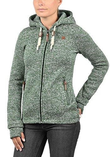 DESIRES Thory Damen Fleecejacke Sweatjacke Jacke Mit Kapuze Und Daumenlöcher, Größe:XL, Farbe:Climb Ivy (3785) - 2