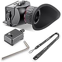 Neewer® S4zoom ottico 3x ingrandimento mirino pieghevole per Sony A7A7R A7II A7S NEX-7NEX-6NEX-5R NEX-5T A6000A5000/Olympus E-PL5e altri 7,6cm 16: 9LCD schermo HD videocamere DSLR