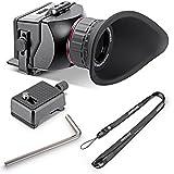 Neewer® Visor de Aumento óptico S4 3X para Sony A7A7R A7II A7S NEX-7NEX-6NEX-5R NEX-5T A6000A5000/Olympus E-PL5y Otros con Pantalla de 16: 9, cámaras de vídeo LCD HD DSLR