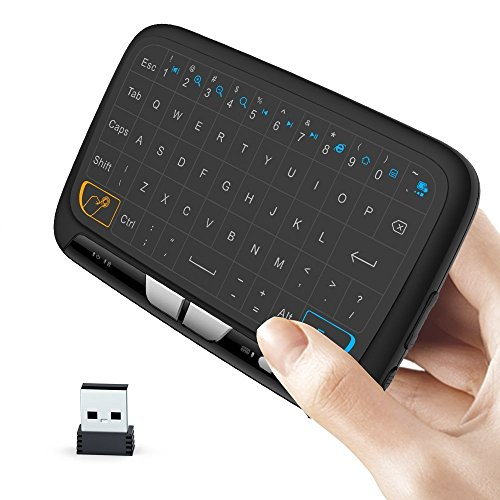 Maus Und Wireless-tastatur Touch (Wireless Remote Control Keyboard, 2.4GHz Rechargeable Mini Wireless Keyboard Touchpad and Mouse Combo for Android TV Box, PC)