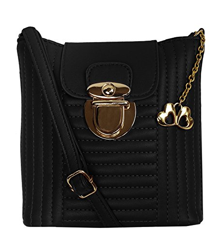 I Define You hidesign Light Weight as Butterflies Designer (Black Color) Sling Bag For girls and Women's  available at amazon for Rs.916