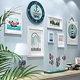 WSDEfr Exquisites Handwerk Wand Bilderrahmen Restaurant Foto Wanddekoration Rahmen Wand Kombination Uhr Hängende Schlafzimmer Sofa Hintergrund Kreative Wandbehang (Farbe: B) (Farbe : B)