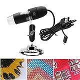 QIND Tragbar USB Digital Mikroskop, 1000x Vergrößerung 8LED Mini Mikroskop Endoskop-Kamera Lupe mit Ständer, 2MP 1080p HD Mikroskop für Windows 7/8/10Mac Android