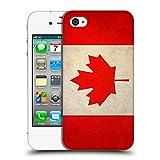 Head Case Designs Kanada Kanadisch Vintage Fahnen Ruckseite Hülle für Apple iPhone 4 / 4S