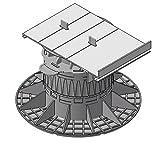Gartenwelt Riegelsberger Randabschlusshalter aus Aluminium 120x175 mm für Plattenlager MADE IN GERMANY