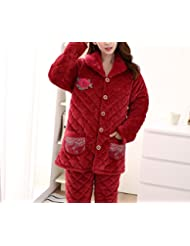 OGTOP Pijamas De Invierno Rojo Robusto Calidad 100% Sexy Albornoces,Red-XXXL