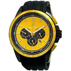 Adee Kaye Terrace Herren Chronograph Schwarz Silizium Armband Uhr AK7141-YL