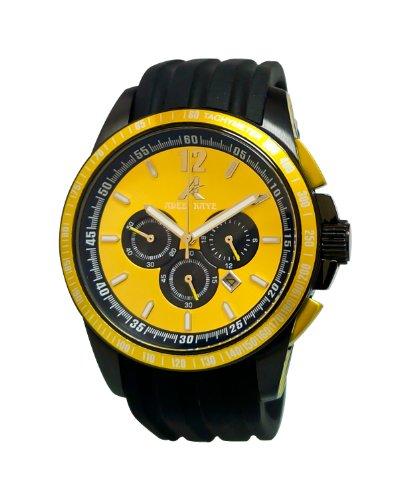 Adee Kaye uomo AK7141/Yl artisticamente progettato giallo protetto con un durevole minerale quadrante cristallo