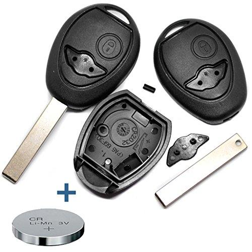 Repair Reparatur Satz Gehäuse Funkschlüssel Fernbedienung Autoschlüssel 2 Tasten Rohling + CR2032 Batterie für Mini Car Remote Key Mini