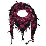 Superfreak® Palituch Grundfarbe schwarz°PLO Schal°100x100 cm°Pali Palästinenser Arafat Tuch°100% Baumwolle, Farbe: schwarz/pink 2