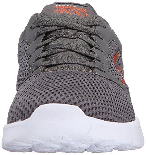Skechers Go Run 400, Baskets Basses Homme Gris (Ccor Gris/Orange)