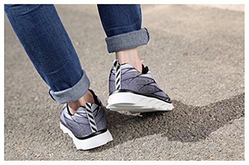 NEWZCERS Atmungsaktiv Ineinander greifen eignung seigner sports Schuhe für Frauen Männer Grau