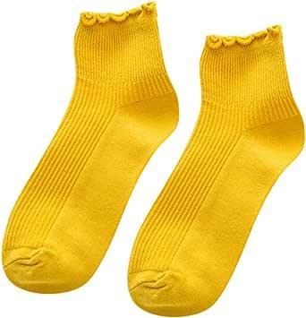 Guoyy S/ü/ße Fr/ühlingsfarbe Reiner Baumwolle Spitze R/üschen Frauen Socken Nette Rand R/üschen Prinzessin M/ädchen Socken Hohe Qualit/ät Sommer Herbst Socken