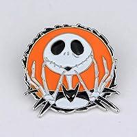 GYPO Halloween-Kürbis-Brosche für Damen, Weihnachts-Brosche mit Strass überzogen, Schal Clip, Orange