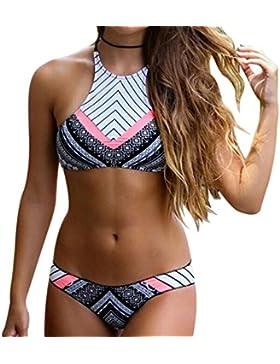 Kidslove Sexy Bikini Damen Push up Bikini Set Damen Bandeau sexy Bademode Sport Bikini Badeanzug Schwimmanzug