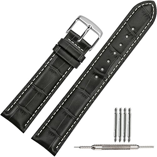 tstrap-genuine-leather-watch-strap-22mm-black-alligator-grain-military-watch-band-w-watch-clasp-buck