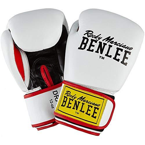 BENLEE Rocky Marciano Unisex- Erwachsene Draco Leather Boxing Glove, White/Black/Red, 12 oz