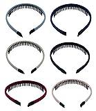 6PCS Mädchen/Frauen Gemischt Farbe Haarbänder Haarreifen Haarreif Haarschmuck mit Zähnen