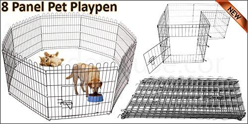 8 paneles resistente para mascotas, bolígrafo de juegos para perro, cachorro, jaula plegable,...