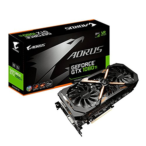 Gigabyte AORUS GeForce GV-N108TAORUS-11GD Carte graphique Nvidia GeForce GTX 1080 Ti 11 Go PCI Express x16 3.0