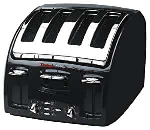 tefal avanti classic 532718 toaster 4 slice black kitchen home. Black Bedroom Furniture Sets. Home Design Ideas