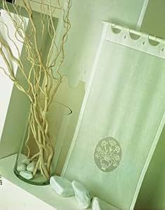 Coppia di Tende Ricamate a mano Priscilla Made in Italy Misto Lino Varie Dimensioni (40x80)