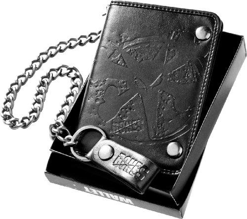 Knochen Rollen geprägt Rat Wallet (schwarz) (Knochen Wallet)