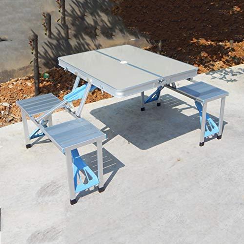 Table Pliante Table et Chaise Pliantes en Aluminium portatives - Tableau de Barbecue de Table de Salle à Manger de publicité extérieure de Voiture (Taille : 85x67x40cm)