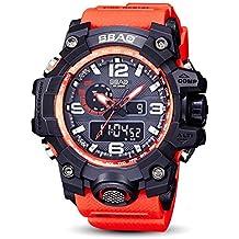 Reloj Hombre Deportivo Sbao Reloj Led Hombres Relojes Deportivos a Prueba De Agua Shock Digital Electronic