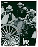 Fotomax Vintage Photo of Michael Landon with Dan Blocker,Lorne Greene and Pernell Roberts.