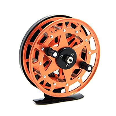 SAMSFX Fly Fishing Reel 2 Ball Bearings with CNC-machined Aluminum Alloy Spool and Metal Frame Plastic Grip by samalon