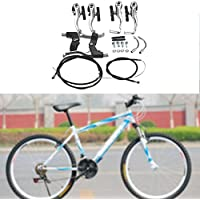 Arvin87Lyly Frenos Bicicleta V Brake Set Puente Frenos Bicicleta Kit Aluminio Delantera Y Trasera Bicicleta V Freno Adecuado para Todo V Freno De Bicicleta