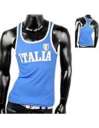 Herren Tanktop Tank top Muskelshirt Fitness T shirt Achselshirt Italia