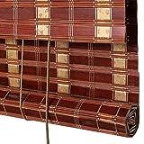 Bambusrollo, Roll-Up-Jalousien, Rollo-Rollos, leichte Filterung von Bambusjalousien, geeignet für Zuhause/Studio/Teehaus/Restaurant (größe : 60×120cm)